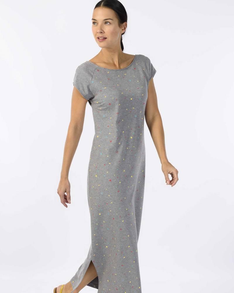 4f927da6b31937 Skunkfunk lange jurk Maule van biokatoen - Ditha Bonita