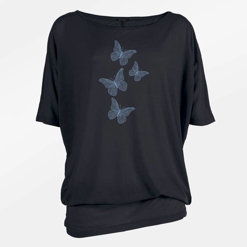 GreenBomb_oversized_T-Shirt_Stream-Animal-fine-Butterflies_black_vegan_biokatoen_organic-cotton_dithabonita