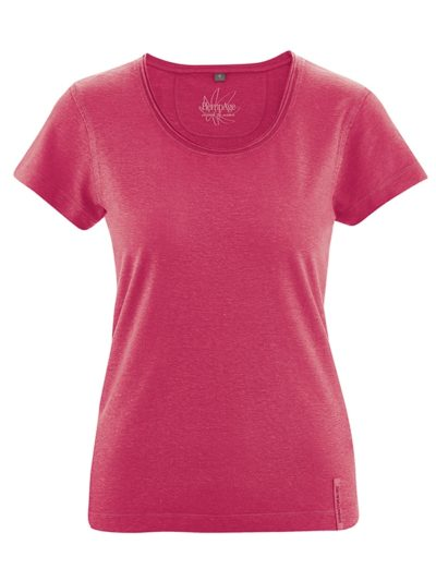 Hempage_T-shirt_Breeze_hennep_Tomatored_DithaBonita_biokatoen
