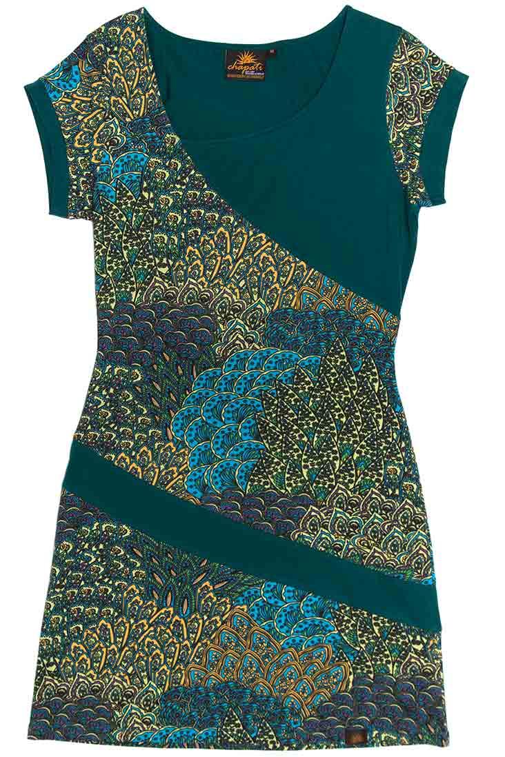 Chapati_jurkje_dress_peacock_pauw_biokatoen_lycra_dithabonita_G-7112_peacook_1_front_ID_10348