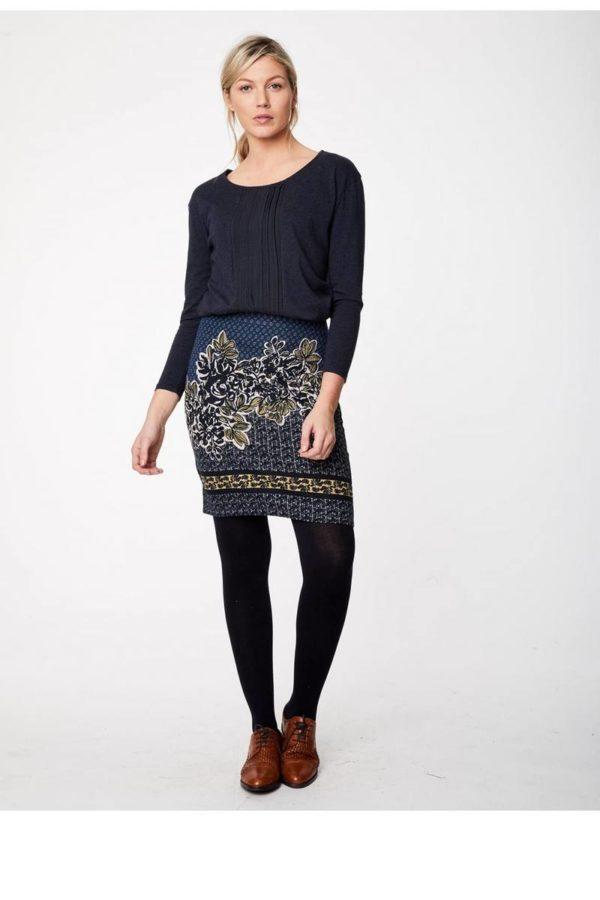 Thought_DithaBonita-blue-orsino-knee-length-print-skirt-in-organic-cotton-0002