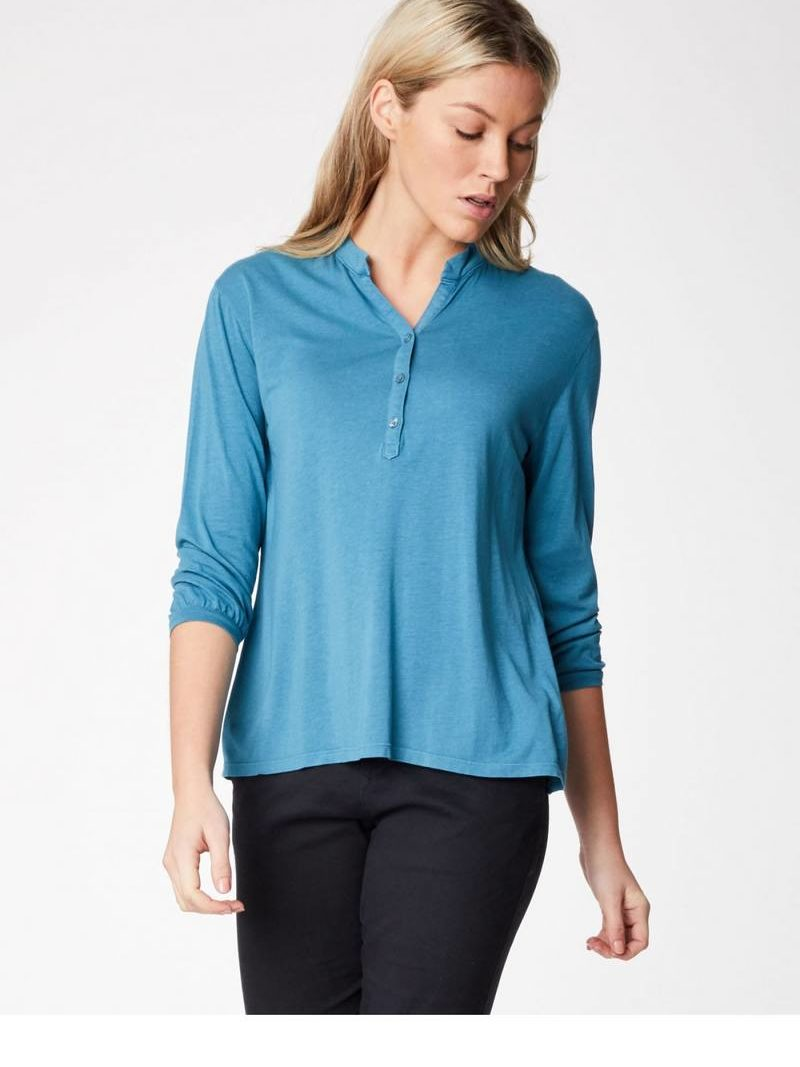 Thought_DithaBonita_shirt_ETHEL-river-blue_wwt3814-river-blue--ethel-button-bamboo-blouse-0003