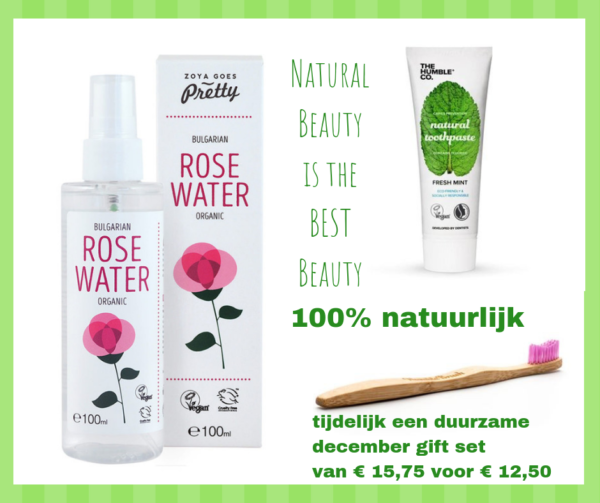 Beauty-pakket_Rozewater_Humblebrush_bamboetandenborstel_tandpasta_DithaBonita_cadeauset ditha bonita beauty