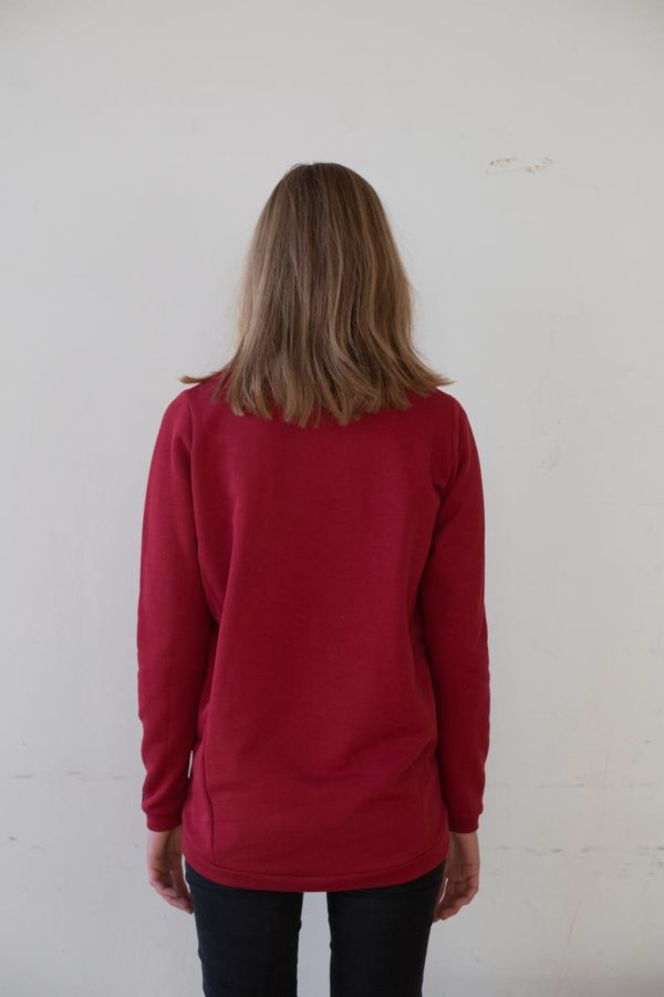 AMOV-Sweatshirt_biokatoen_rood_DithaBonita_M0044 B Red_oversized_W3042 F Ruby Red