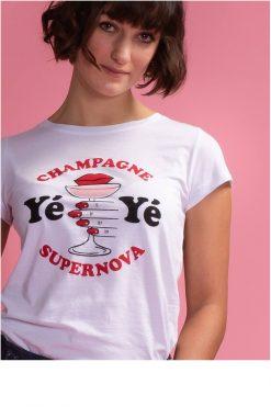 Mademoiselle-YéYé_kleding_Peta_approved_vegan_te-koop-bij-DithaBonita_Champagne Supernova - T-Shirt (primary)