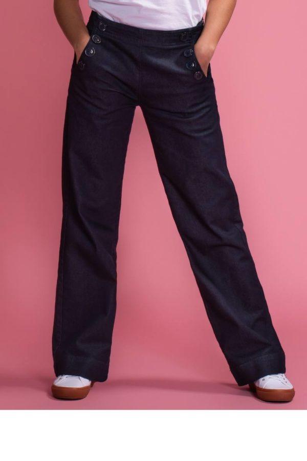 Mademoiselle-YéYé_kleding_Peta_approved_vegan_te-koop-bij-DithaBonita_Walk On By - Trousers 2