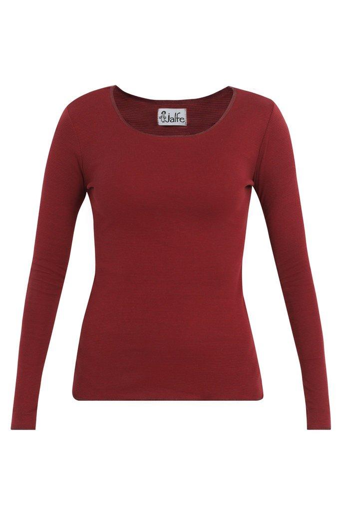Jalfe_shirt_long-sleeve_bordeauxrood_stripe_biokatoen_biocotton_DithaBonita