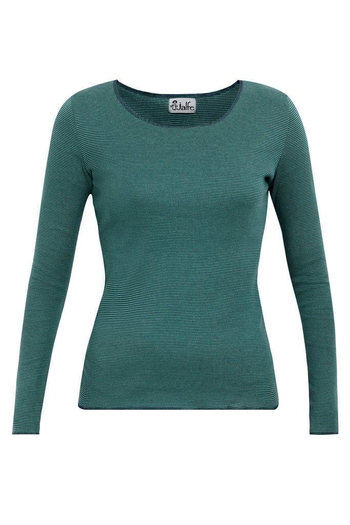 Jalfe_shirt_long-sleeve_groen_stripe_biokatoen_biocotton_DithaBonita