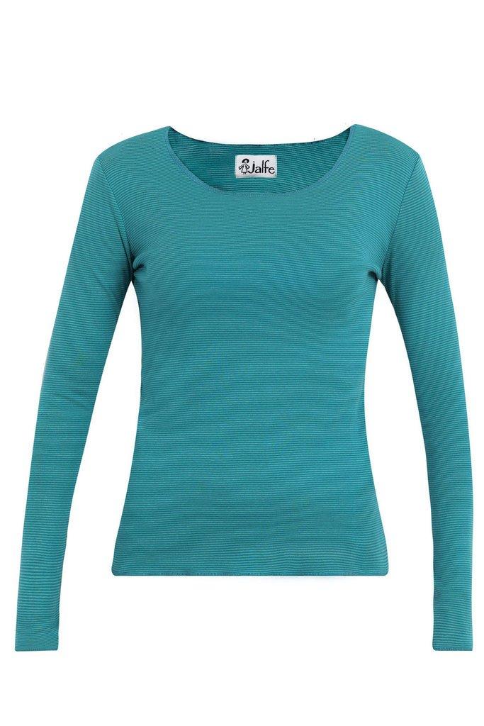 Jalfe_shirt_long-sleeve_petrol_stripe_biokatoen_biocotton_DithaBonita