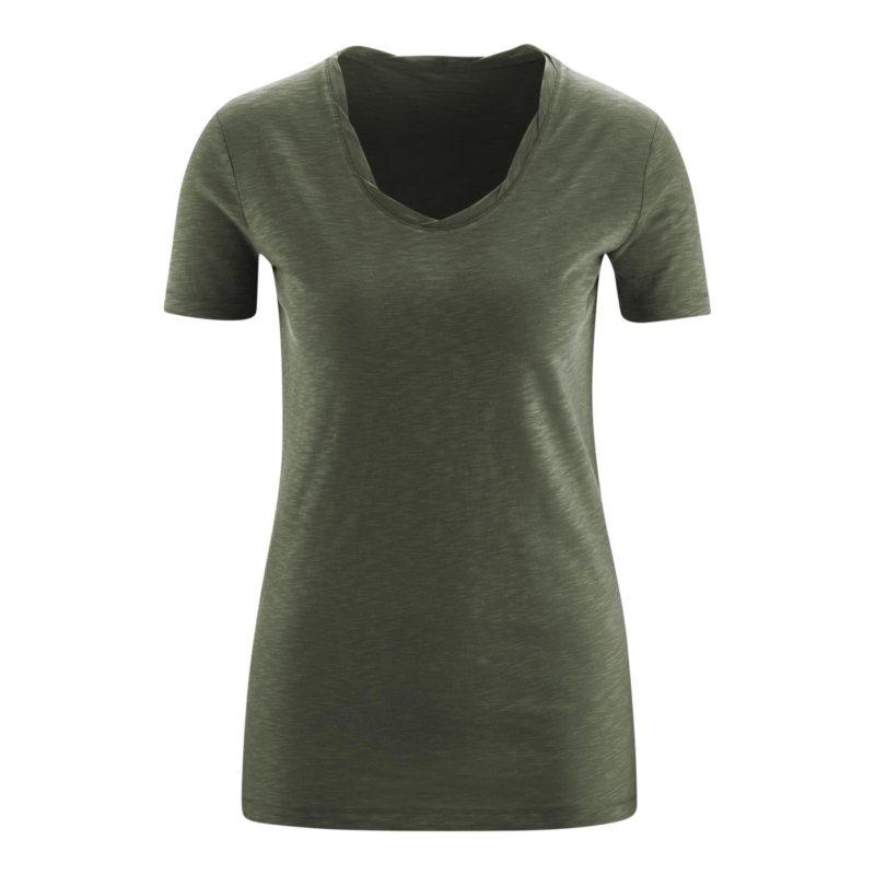 Living Crafts_T-shirt_Alexandra_Olive_Biokatoen_DithaBonita_GOTS