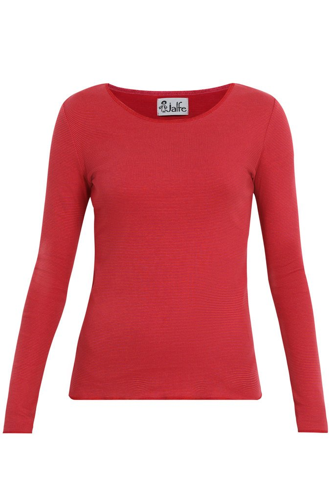 Jalfe_shirt_long-sleeve_oranje-roze_stripe_biokatoen_biocotton_DithaBonita