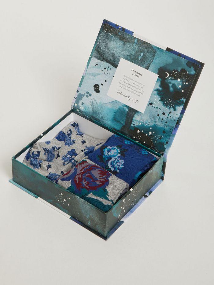 Thought sokken en slip Floral Bamboo Briefs & Socks Gift Box