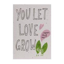 Send and Grow postcard - You let love grow