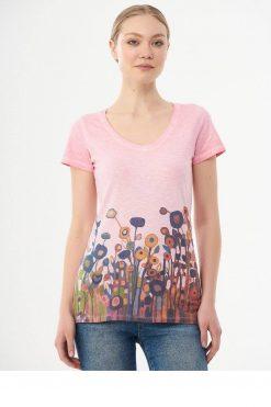 Organication-shirt-dames-print-carnationpink