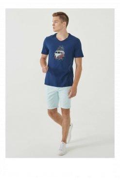 Organication-shirt-heren-navy-print-biokatoen