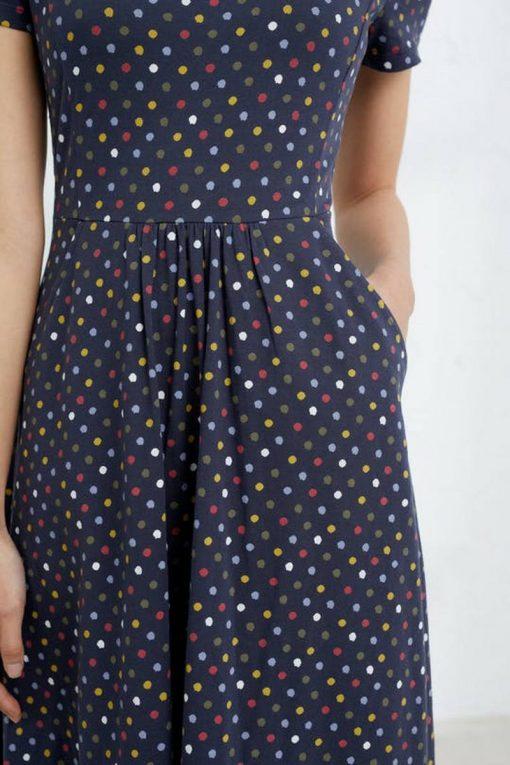 Seasalt-jurkje-April-korte-mouw-polkadot-