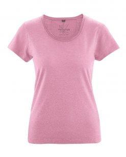 Hempage-T-shirt-Breeze-hennep-Roze