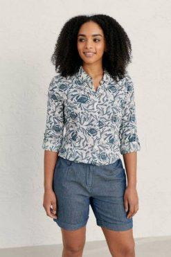 Seasalt-blouse-Larissa-Lino-Crab-Pool-biokatoen